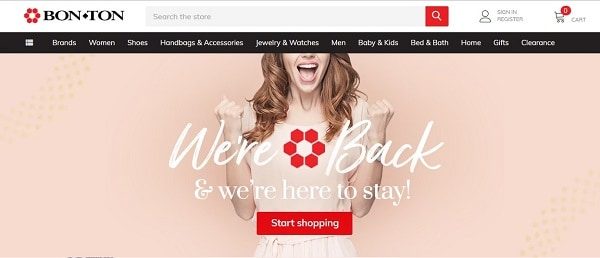 the bon ton department store brand has been revived as an online